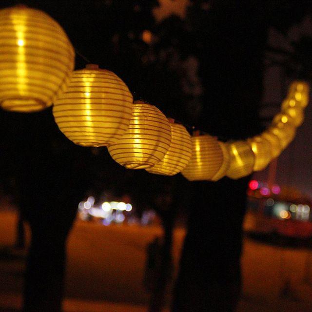 Led solar garden lights 20 lantern lighting string outdoor lamps led solar garden lights 20 lantern lighting string outdoor lamps wedding decoration lamp waterproof nylon guirlande mozeypictures Image collections