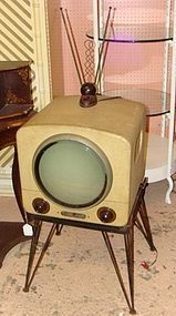Not Round screen vintage televisions was and