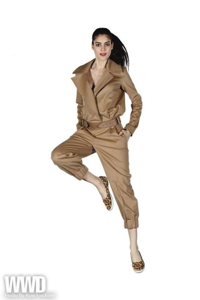 7c0669c42ad Perfect rainy day jumper. Max Mara s Camel Jumpsuit. Image From WWD Facebook