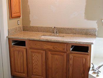Ornamental Granite Bathroom Vanities In Georgetown Texas Granite Bathroom Oak Bathroom Vanity Bathroom Vanity