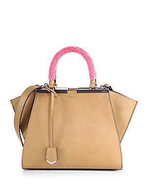 8aa198521251 Fendi Shearling-Handle Petite 3Jours Shopper