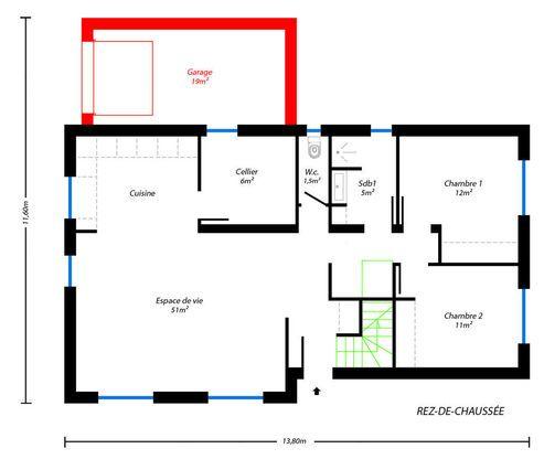 Modèle de maison Esprit traditionnel # 14 -  Retrouvez tous les