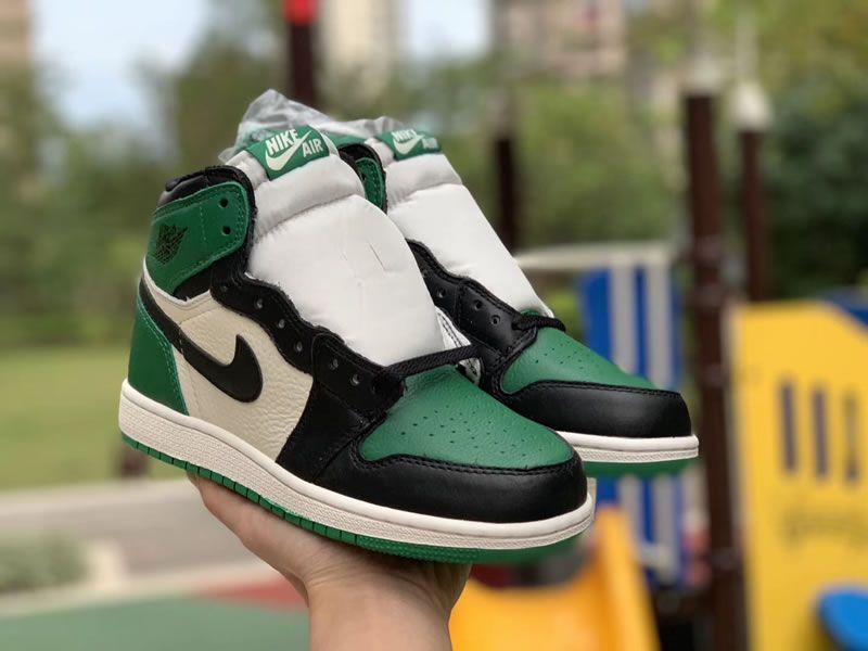 hot sale online b5855 2ed60 pine green new air jordan 1 high og gs 575441-302 shoes pics - www
