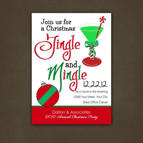 Christmas Holiday Birthday Party by stickerchic on Etsy 950 – Office Holiday Party Invites