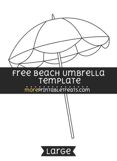 Free Beach Umbrella Template Large Umbrella Template Beach