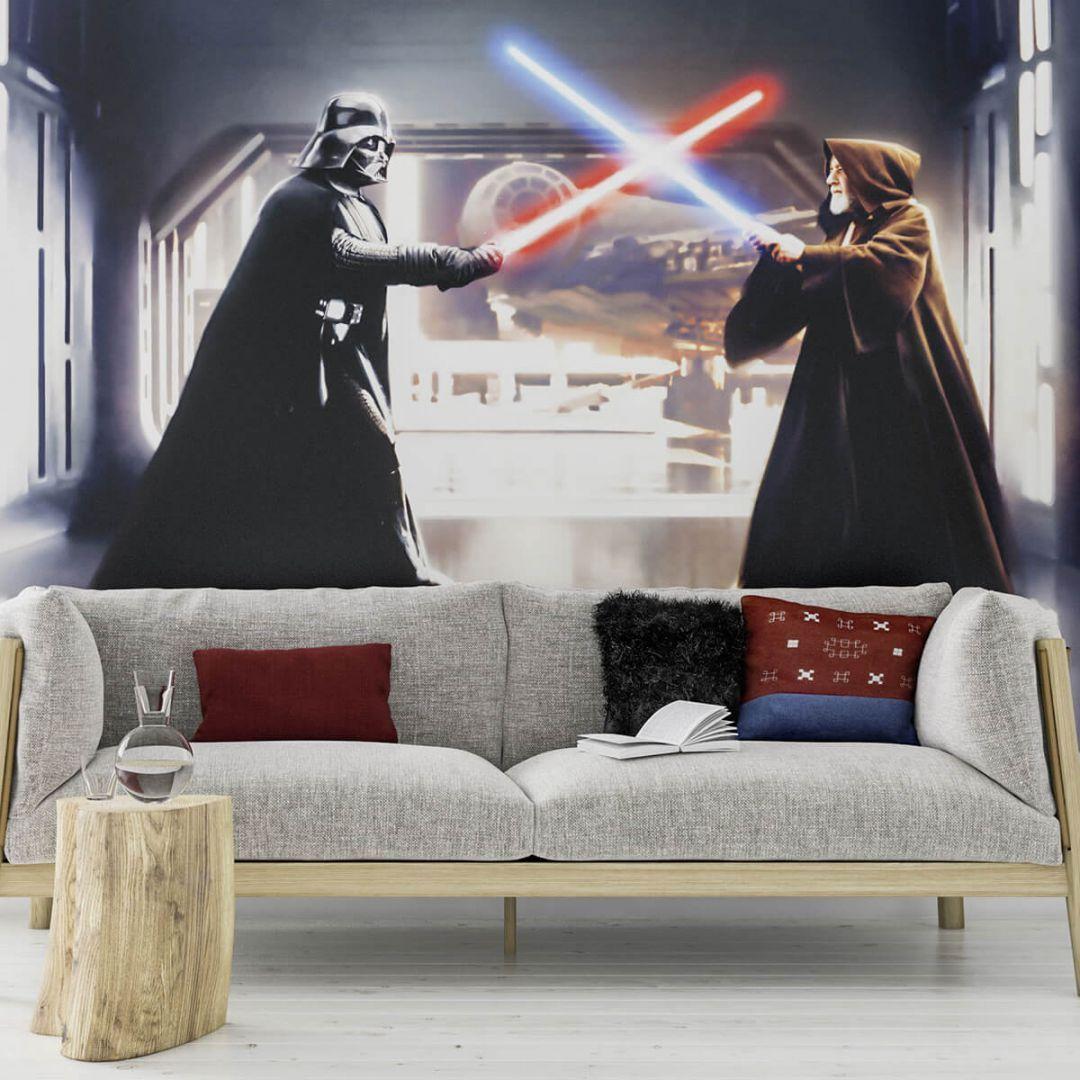 Fototapete Star Wars Vader Vs Kenobi Fototapete Auf Vlies Vliestapete Tapete Fototapete Star Wars Fototapete Komar Fototapete