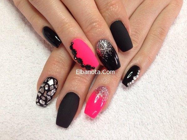 Pin By بنوته كافيه On المعطف الأحمر يتربع على عرش الموضة لشتاء 2014 Nails Beautiful Nail Designs Neon Nail Art
