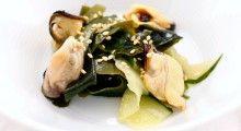 Ensalada de mejillones, pepino y alga wakame 1