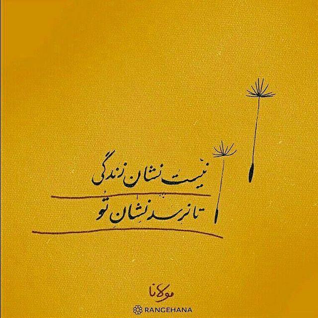 مولانا نیست نشان زندگی تا نرسد نشان تو Farsi Calligraphy Persian Poem Calligraphy Persian Poem