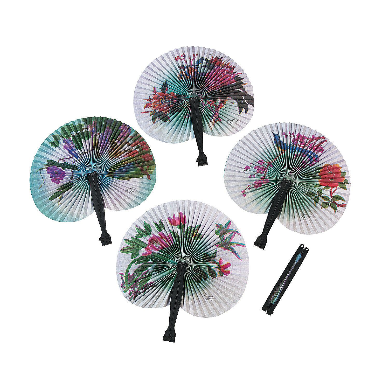Asian Folding Hand Fan Assortment   Asian, Favors and Bridal showers