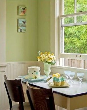 Celery Green Kitchen Green Dining Room Green Kitchen Walls Kitchen Color Red