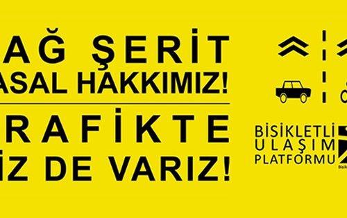 Bisikletli Ulaşım Platformu,  Trafikte Biz de Varız! sloganıyla 25 Temmuz'da farkındalık eylemi/sürüşüyle biraraya geliyor.  Read more: http://istanbuldasanat.org/trafikte-biz-de-variz/#ixzz3gHquqPJO