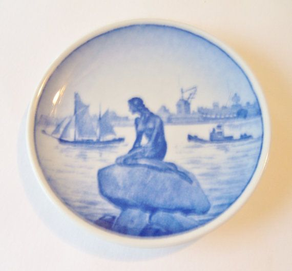 Little Mermaid - Royal Copenhagen Miniature Plate - Langelinie - Denmark - & Little Mermaid Royal Copenhagen Miniature by AuntPhebasVintage ...