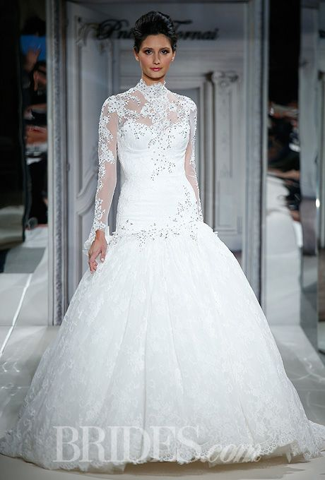 Pnina tornai for kleinfeld 2014 pnina tornai for Kleinfeld wedding dresses with sleeves