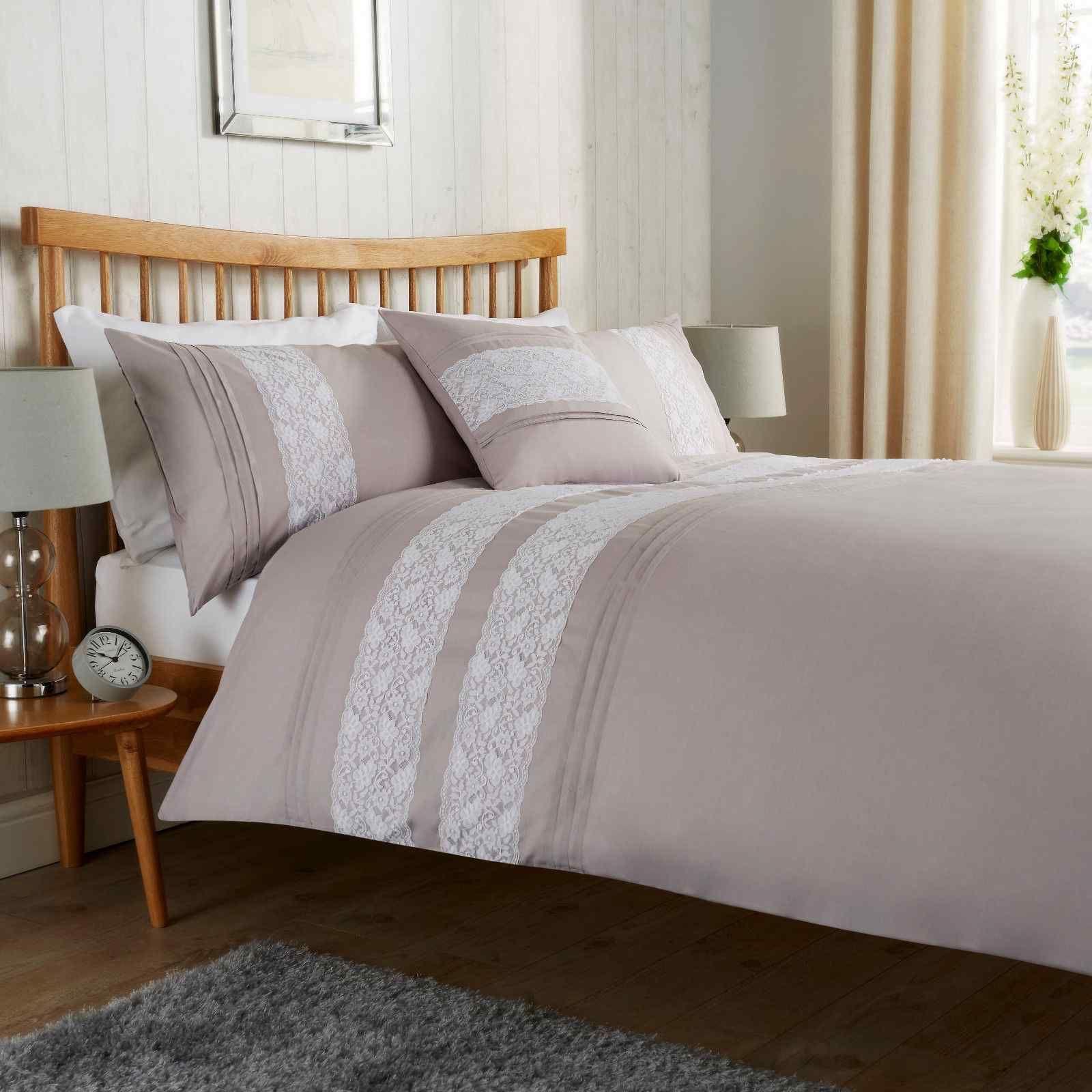 Bibury Silver Duvet Quilt Bedding Set Linen And