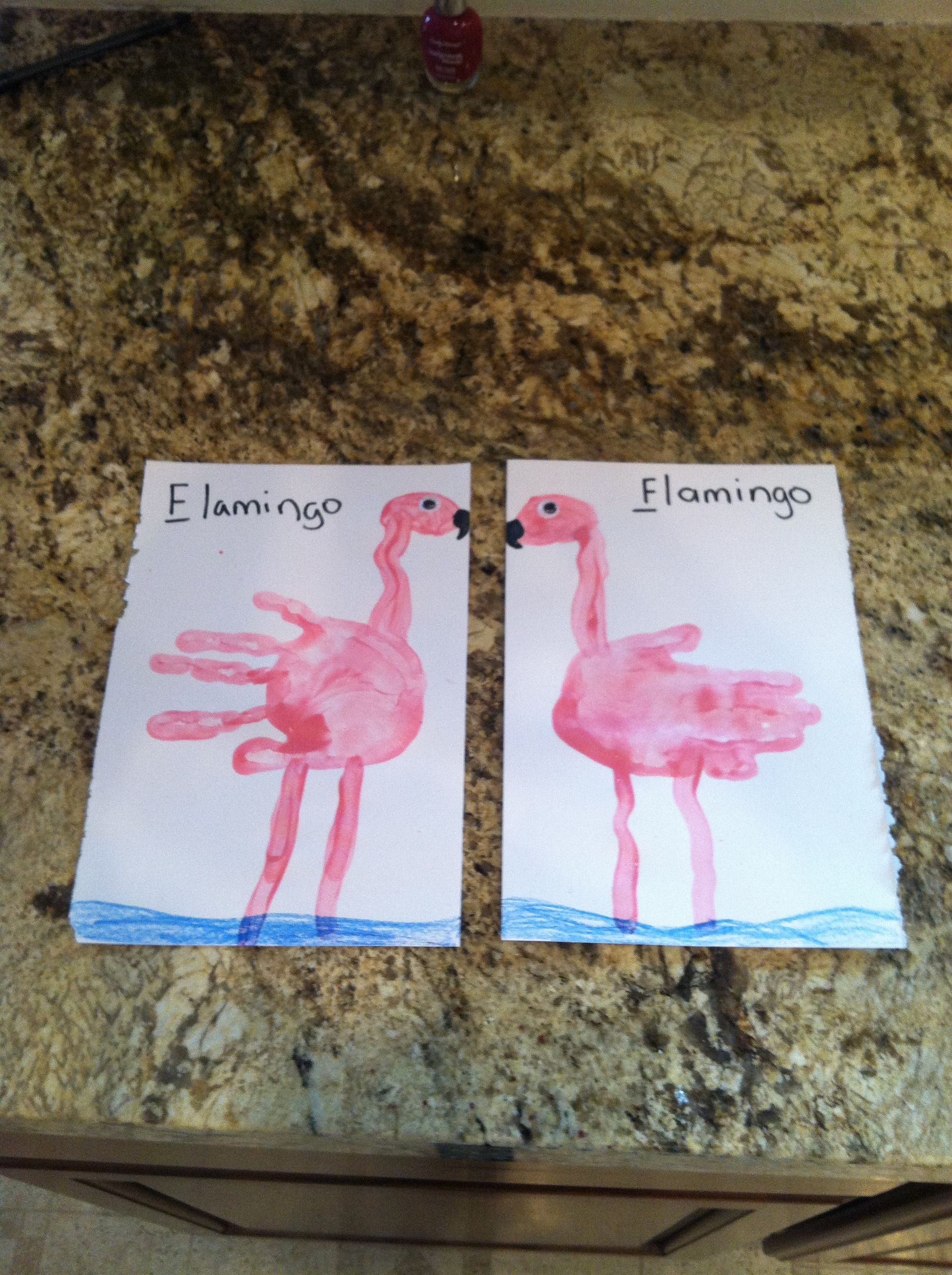 F Is For Flamingo Craft