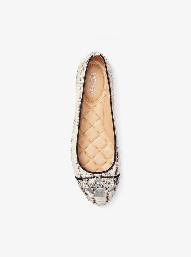 b7008dde MICHAEL Michael Kors Alice Snakeskin Ballet Flat | Products | Flats ...