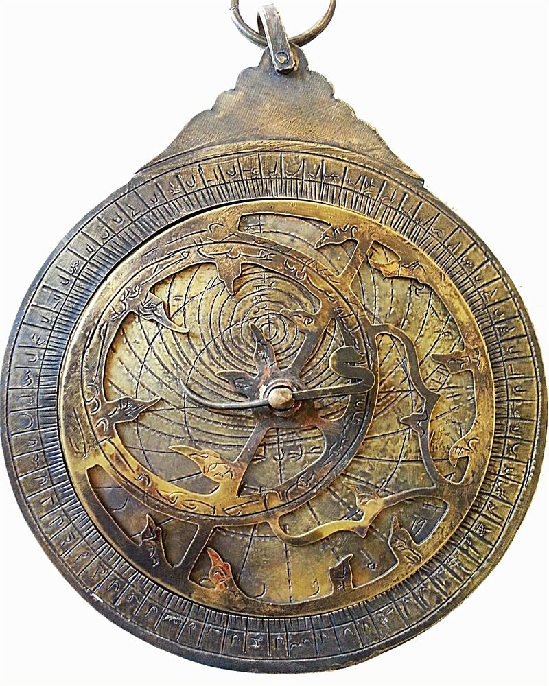 Antique Islamic Brass Astrolabe Persian Syria arab Navigation Astrologic