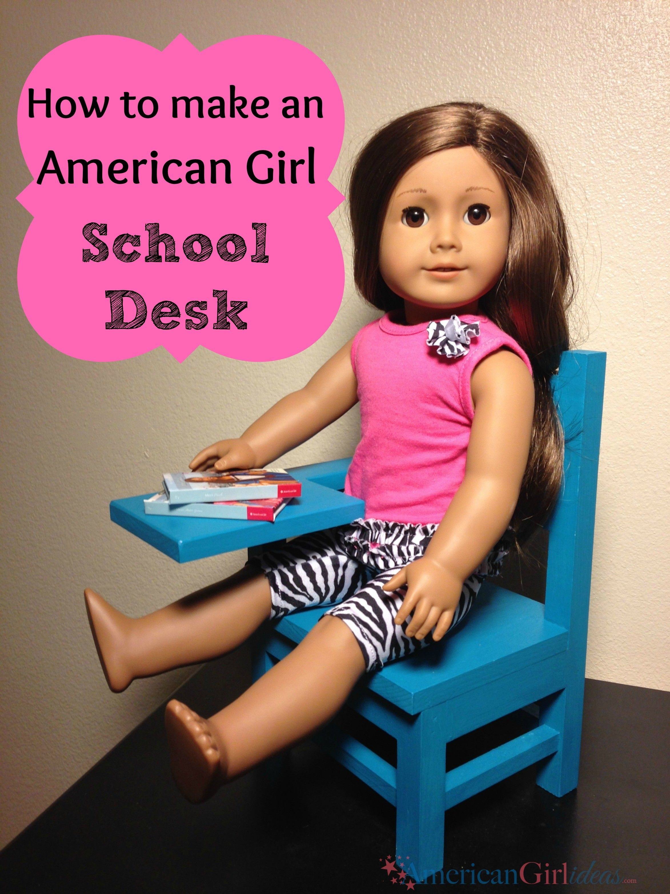 American Girl School Desk Tutorial American girl