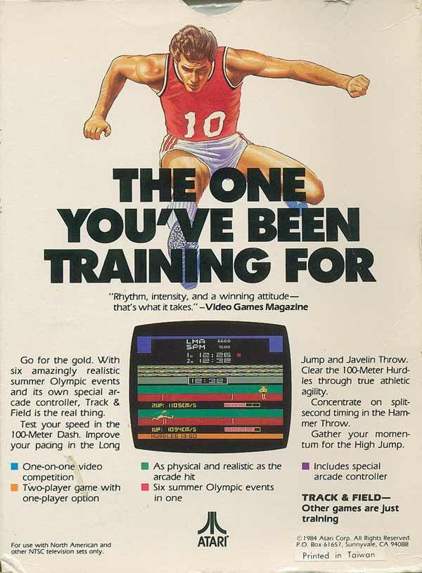Track and Field NES Box Art Jeu Vidéo T Shirt