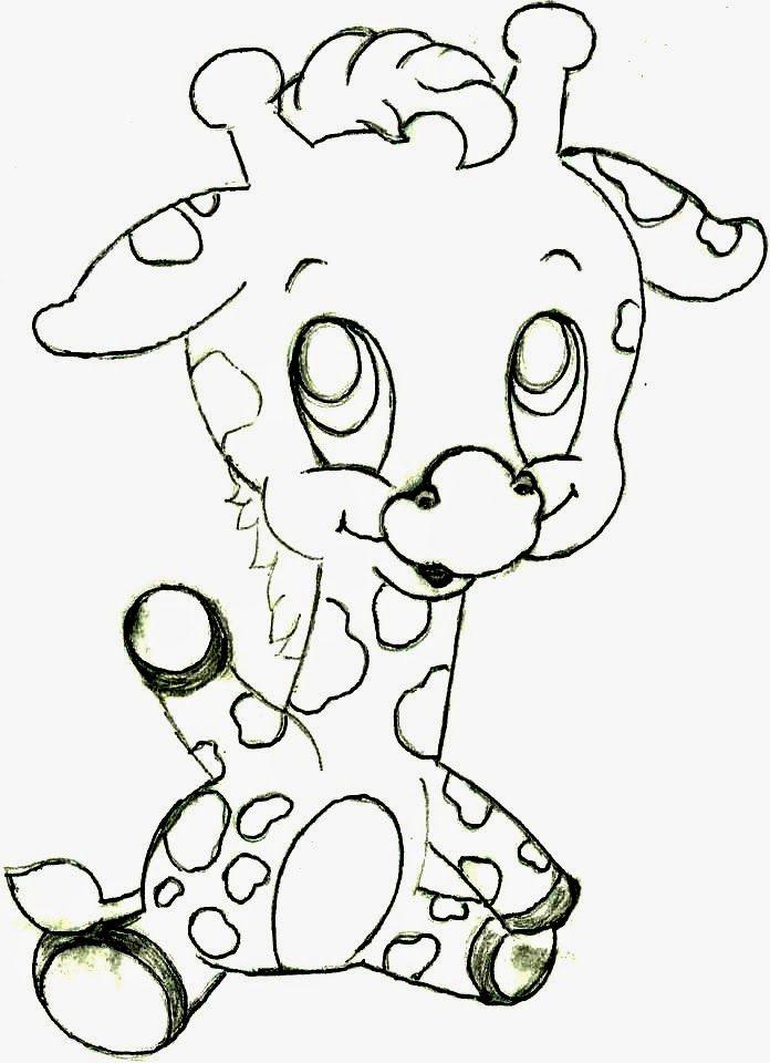 desenho de bebe girafa para pintar | Desenhos.... | Pinterest