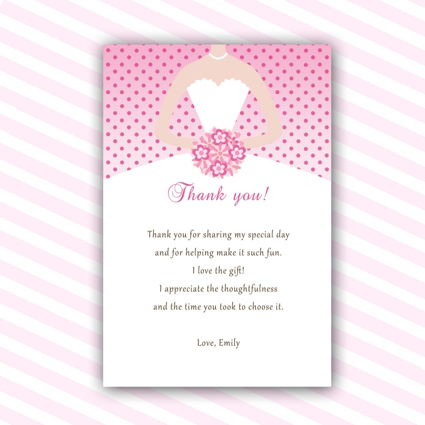 30 Beautiful Wedding Shower Thank You Cards Wedding Invitation