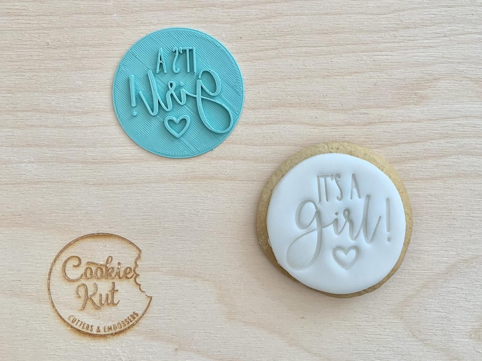 Icing Embosser Fondant Cookie Stamp Icing Stamp Cookie Stamp Baby Cookie Stamp Fondant Embosser Baby Girl Cookie Stamp