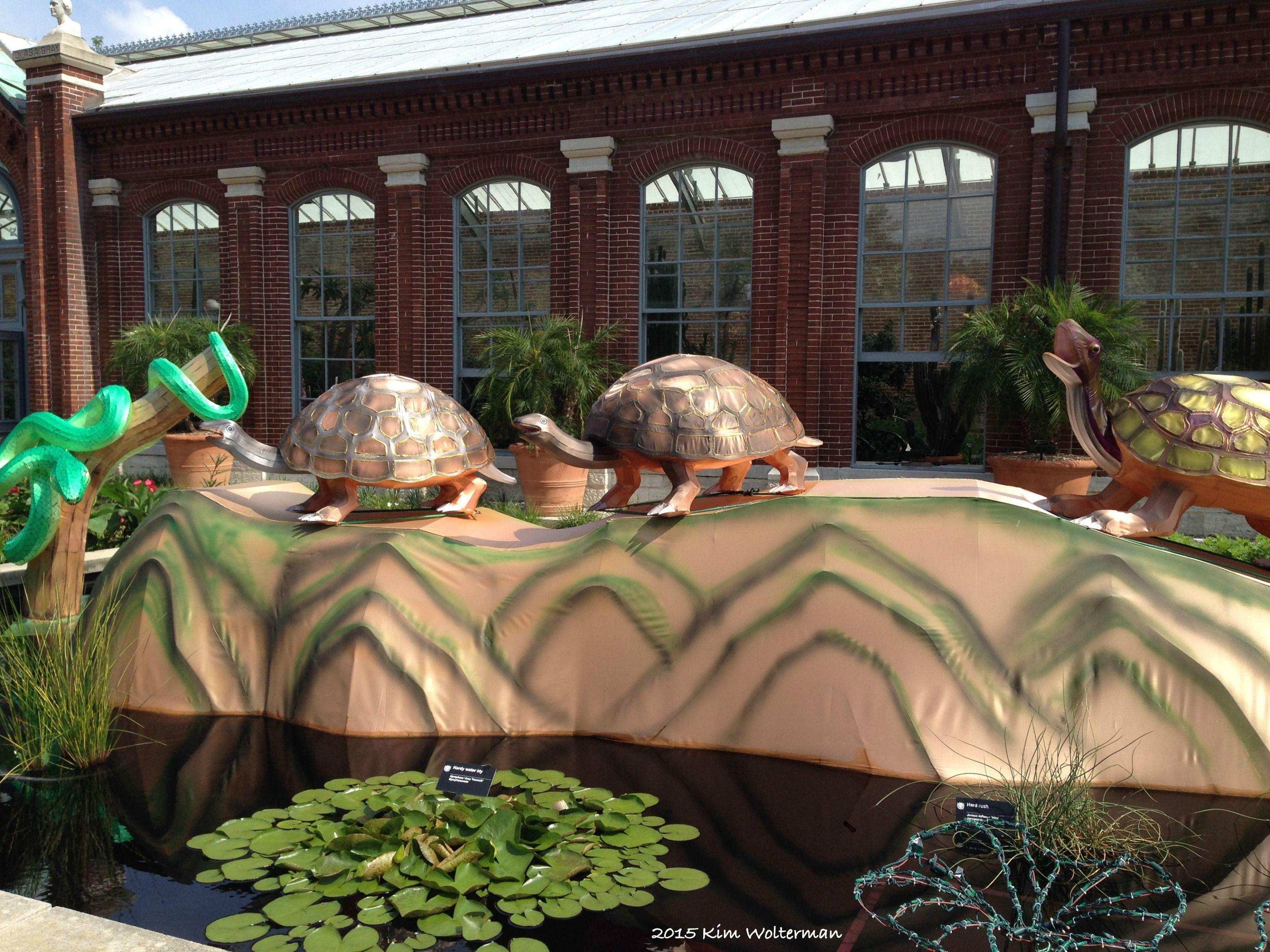 Wetland Wonders lantern view 2 at the Missouri Botanical Garden ...