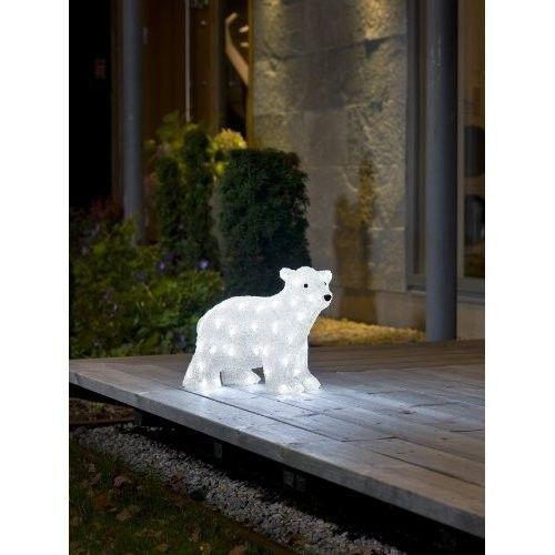 outdoor christmas decoration polar bear white 3d sculpture led lights indoor - Polar Bear Christmas Outdoor Decoration Led Lights
