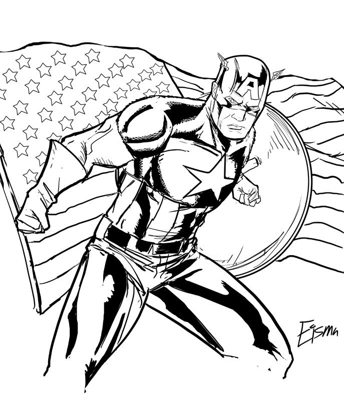 Free captain america coloring pages for print   Coloring For Kids ...