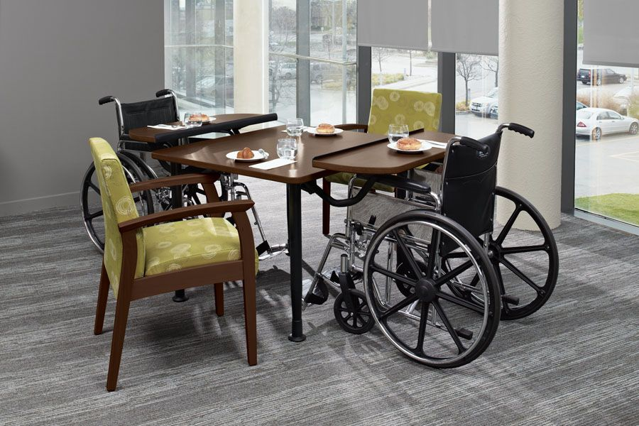 The Tablet Table Is A Unique Nursing Home Furniture Solution Providing Dining Activity Room