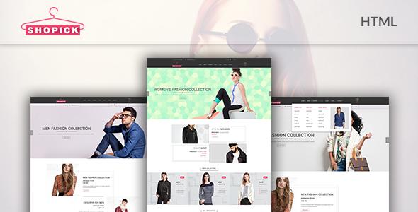 Shopick - eCommerce Responsive Bootstrap Template | Website design ...