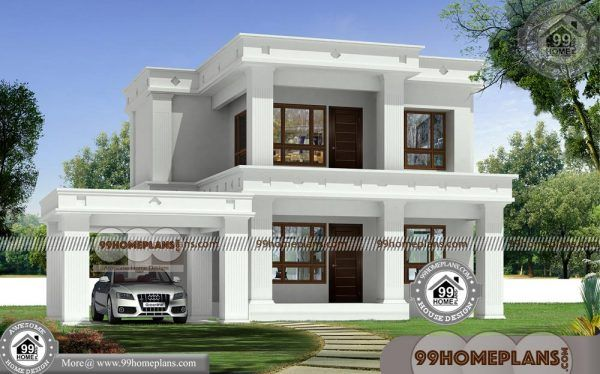 Flat Roof House Plans Design Most Beautiful Narrow Lot Plan Ideas Free Flat Roof House Beautiful House Plans House Roof