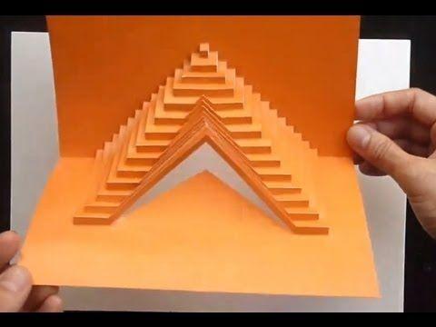 03 How To Build Stairs Pop Up Card Tutorial Card Tutorial Paper Art Tutorial Kirigami
