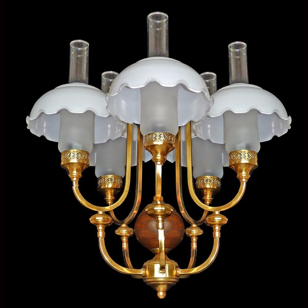 Fabulous french art deco chandelier in woodgold brassopaline and fabulous french art deco chandelier in woodgold brassopaline and frosted glass arubaitofo Choice Image