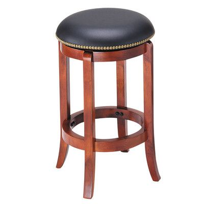Acme Furniture Chelsea 24 Swivel Bar Stool With Cushion Finish Oak