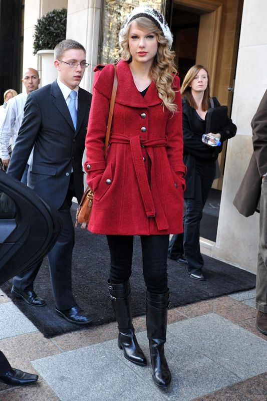 What To Wear With A Red Coat | Down Coat
