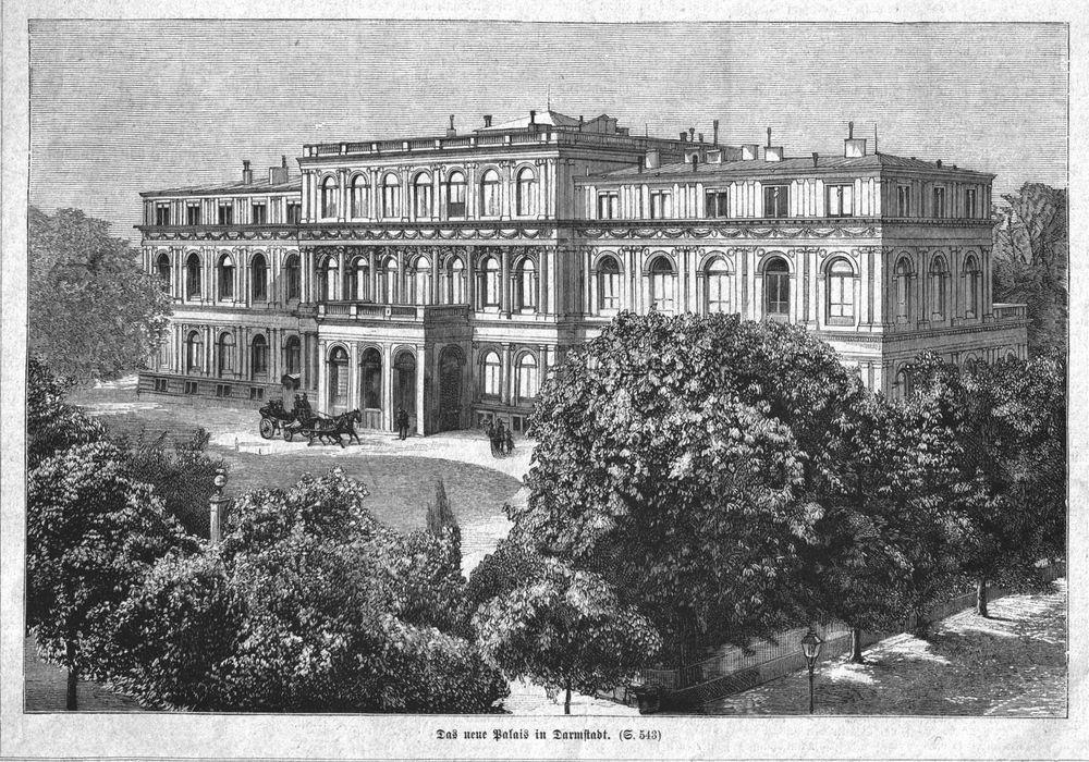 Darmstadt Das Neue Palais 1884 In Antiquitaten Kunst Grafik
