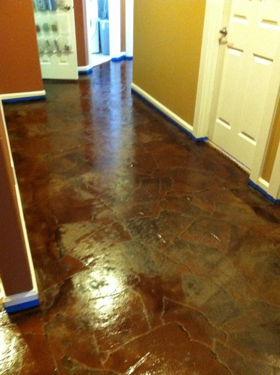 Brown Paper Floor/ for the stairs? | this old house | Pinterest