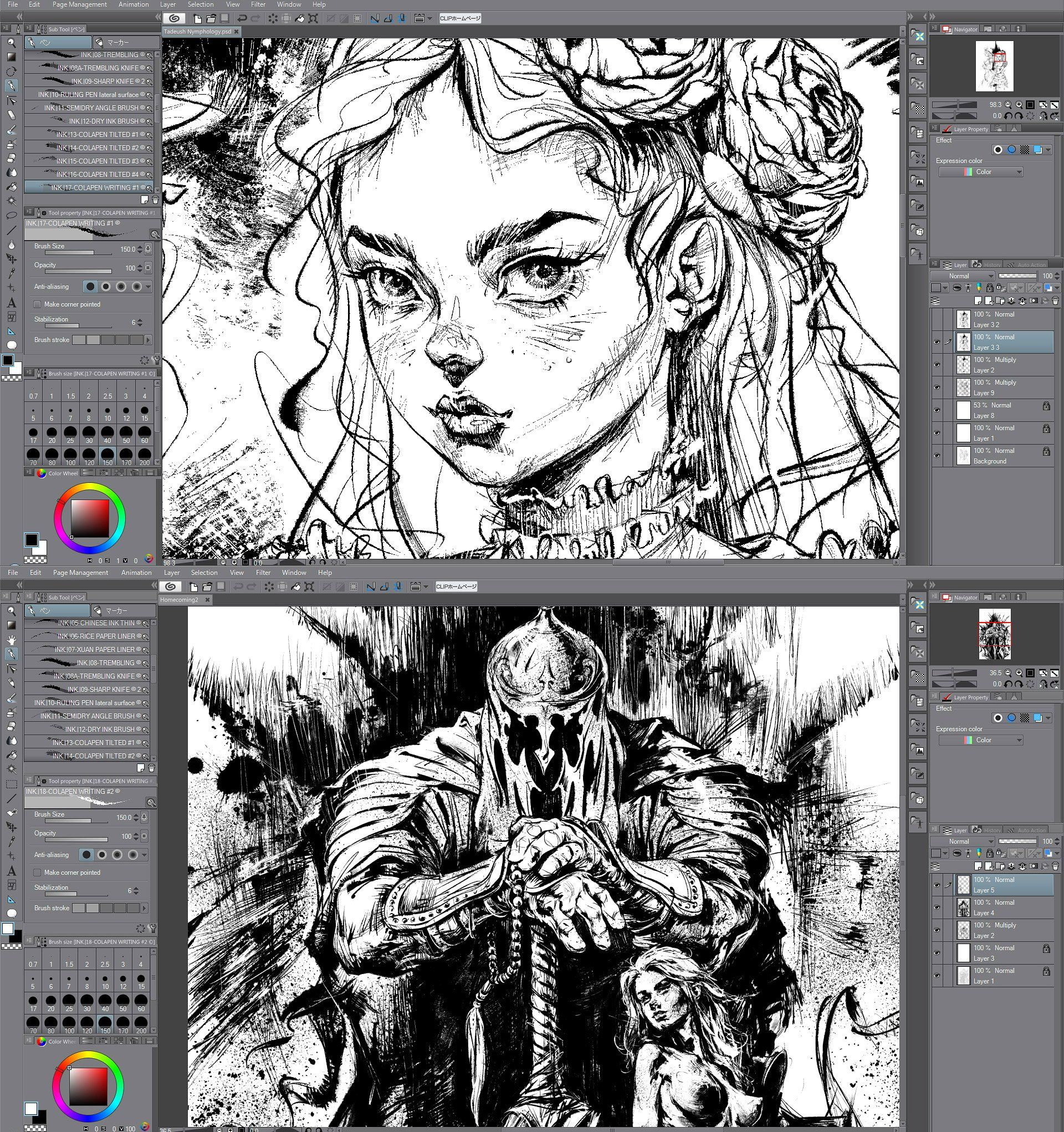 Ink Clip Studio Subtools For Inking Clip Studio Paint Clip Studio Paint Tutorial Clip Studio Paint Brushes
