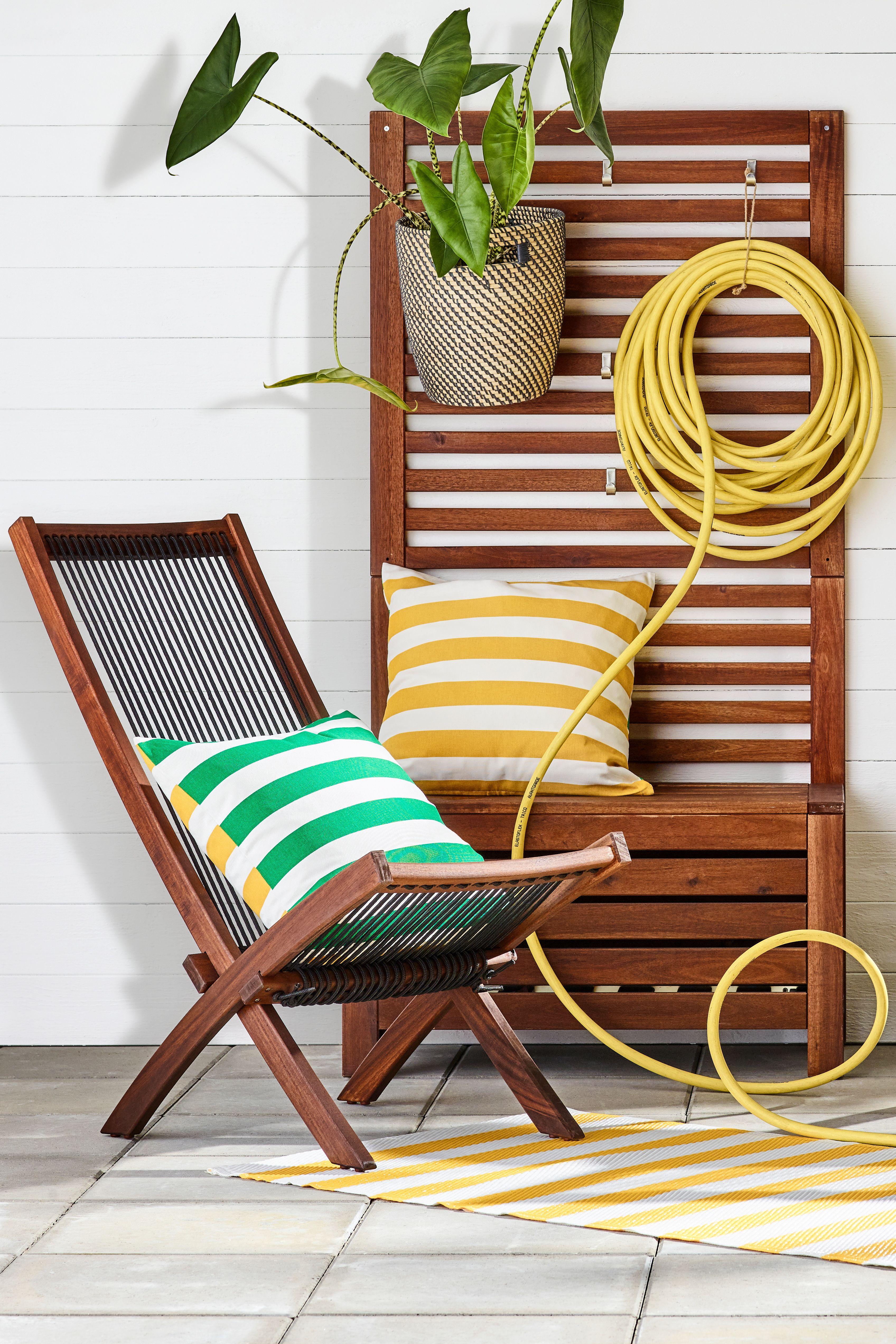 Holz Liegestuhl Ikea.Brommö Ruhesessel Außen Braun Las Schwarz Braun