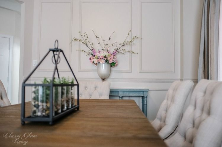 Restoration hardware inspired diy wainscoting chair rail for Chair rail ideas for living room