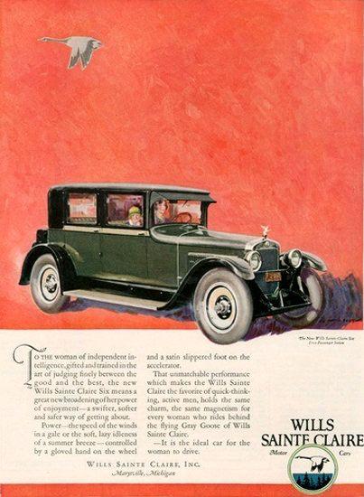 Wills Sainte Claire Automobile Michigan Goose Disenos De Unas