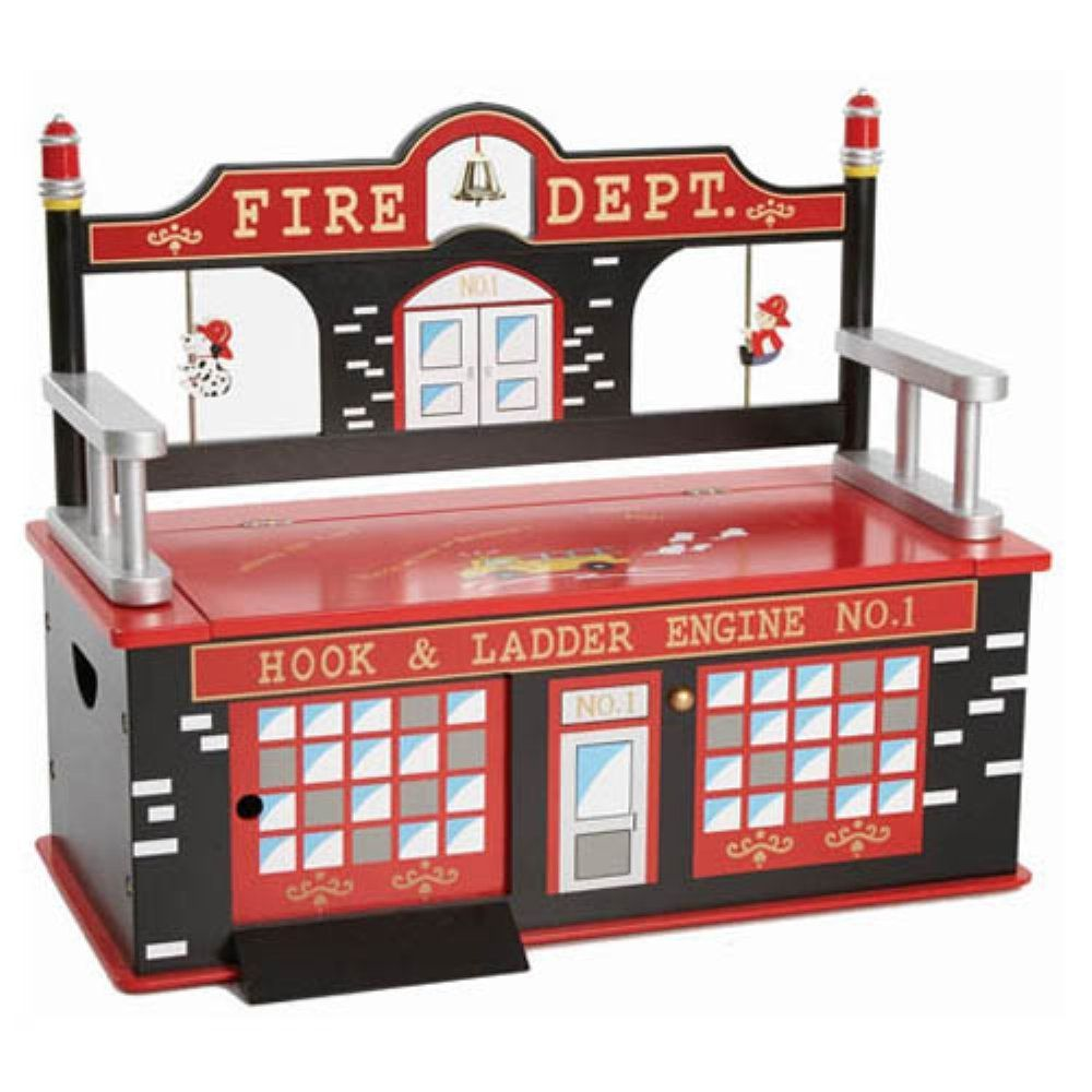Levels of Discovery Firefighter Toy Box Bench - The Firefighter Toy Box Bench is perfect for your little firefighter. It's crafted of durable wood and designed to look like a firehouse. It even... #bigtoybox Levels of Discovery Firefighter Toy Box Bench - The Firefighter Toy Box Bench is perfect for your little firefighter. It's crafted of durable wood and designed to look like a firehouse. It even... #bigtoybox