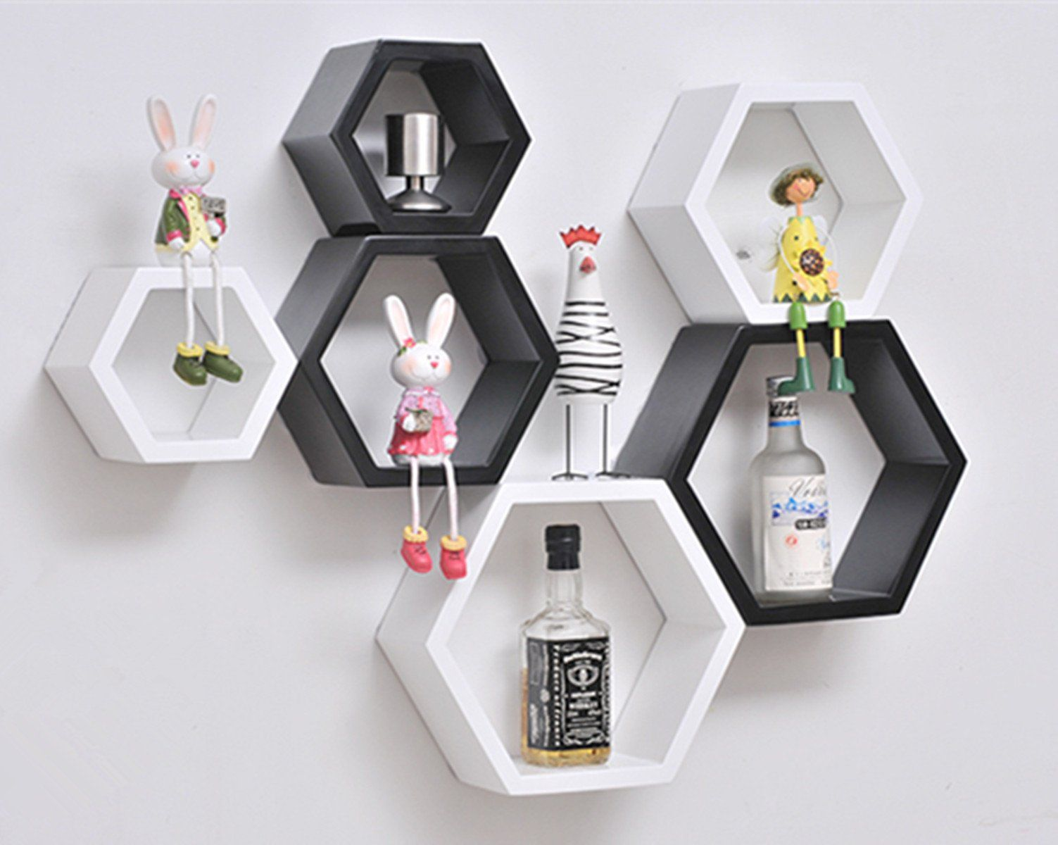 ZJchao DIY Decorative Wall Ornaments Floating Shelves Cube Storage ...