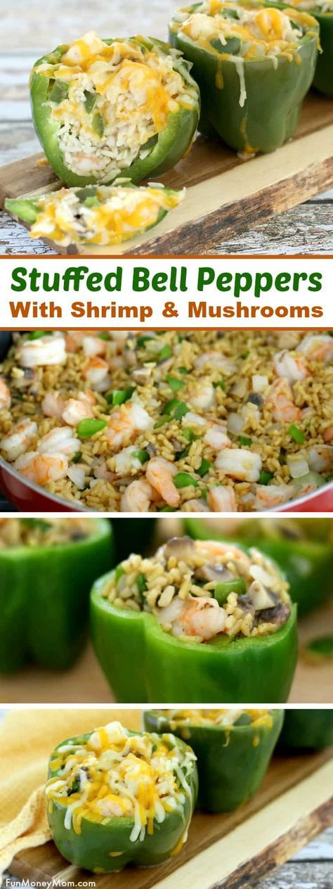 Shrimp Stuffed Peppers Recipe Stuffed Peppers Dinner Recipes Easy Dinner Recipes