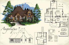 Angelique I Vintage House Plans Design Angelique