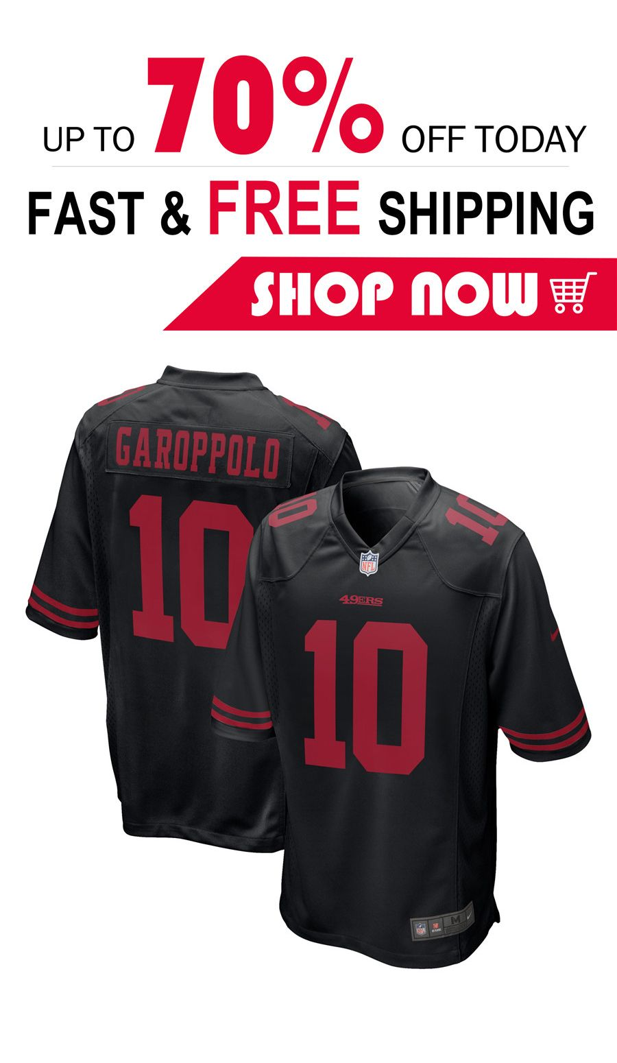 super popular ea6c3 c1ee5 mens Jimmy Garoppolo San Francisco 49ers football Game ...