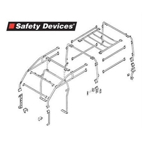 Arceau complet Safety Devices 8 Points pour Land Rover