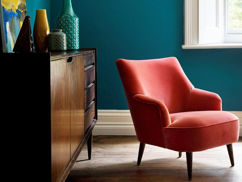 The Peggy armchair in Dusty Rose cotton matt velvet, £660